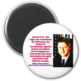 And All Of Us - Bill Clinton 2 Inch Round Magnet