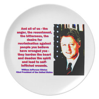 And All Of Us - Bill Clinton Party Plate