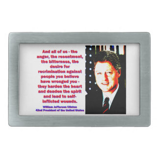 And All Of Us - Bill Clinton Rectangular Belt Buckle