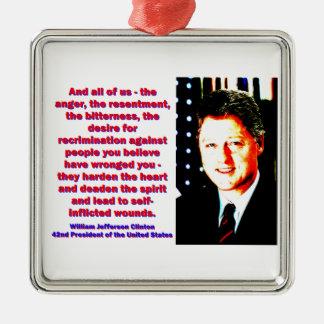 And All Of Us - Bill Clinton Silver-Colored Square Ornament
