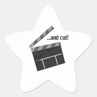 And Cut! Star Sticker