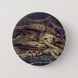 And Elohim Created Adam By William Blake 2 Inch Round Button