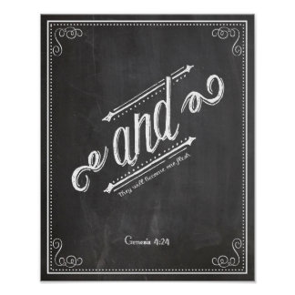 AND Genesis 4:24 joined together Poster