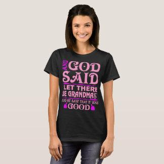 And God Said Let There Be Grandma Pride Grandma T-Shirt