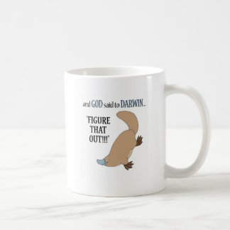 And God said to Darwin.... Coffee Mug