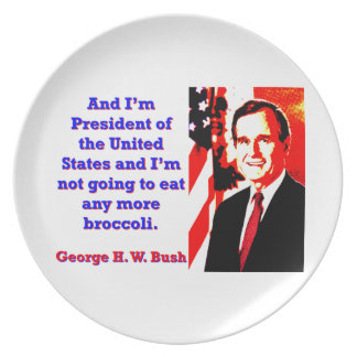 And I'm President - George H W Bush Dinner Plates