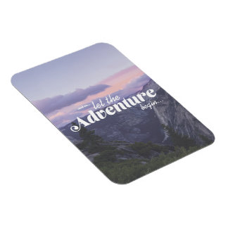 and… let in such a way the adventure begin - rectangular photo magnet