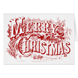 and Merry Christmas Blank Note Cards