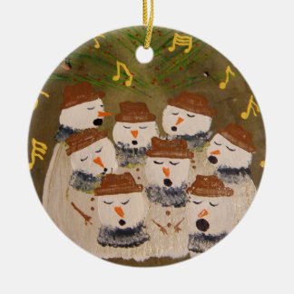 and most of the choir sings ceramic ornament