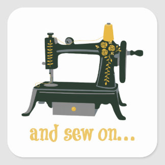 And Sew On... Square Sticker