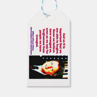 And So It Is Important - Bill Clinton Gift Tags