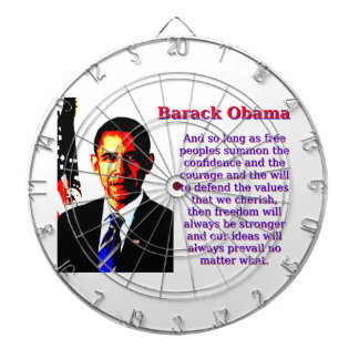 And So Long As Free Peoples - Barack Obama Dartboard