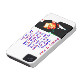 And So My Fellow Americans - John Kennedy Case-Mate iPhone 4 Case