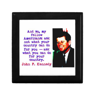 And So My Fellow Americans - John Kennedy Gift Box