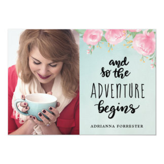 And So The Adventure Begins | Graduate Photo Card