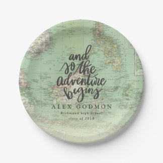 AND SO THE ADVENTURE BEGINS PAPER PLATE