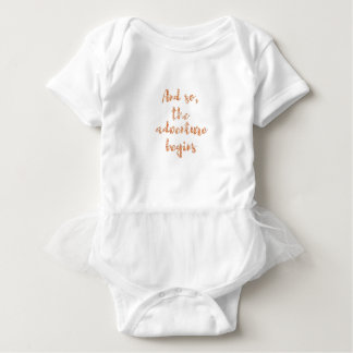 And so, the adventure begins - Travel inspiration Baby Bodysuit