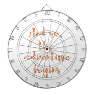 And so, the adventure begins - Travel inspiration Dartboard