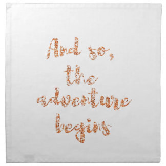 And so, the adventure begins - Travel inspiration Napkin