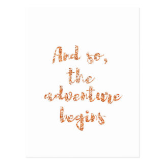 And so, the adventure begins - Travel inspiration Postcard