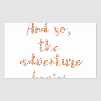 And so, the adventure begins - Travel inspiration Sticker