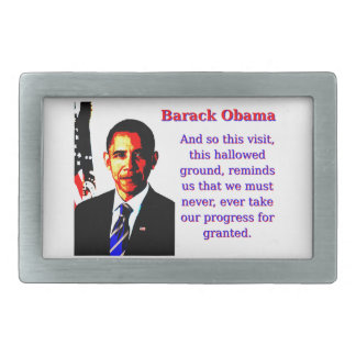 And So This Visit - Barack Obama Belt Buckle