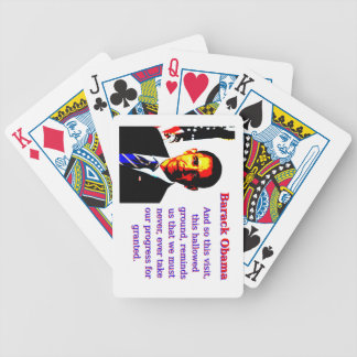 And So This Visit - Barack Obama Bicycle Playing Cards