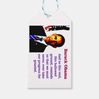And So This Visit - Barack Obama Gift Tags