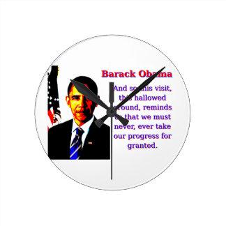 And So This Visit - Barack Obama Round Clock