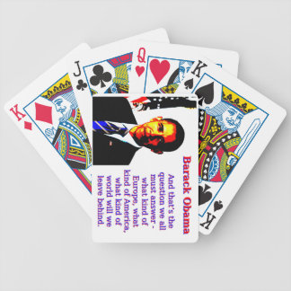 And That's The Question - Barack Obama Bicycle Playing Cards