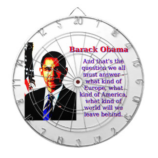 And That's The Question - Barack Obama Dartboard