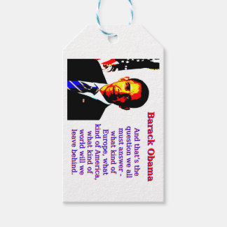 And That's The Question - Barack Obama Gift Tags