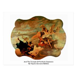 And The Triumph Of Fortitudo Sapienzia Postcard