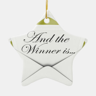 And the winner is envelope ceramic ornament