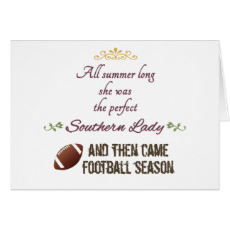 ...And Then Came Football Season Greeting Card