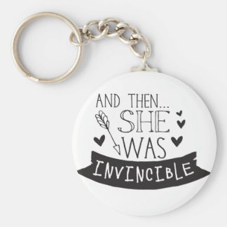 and then she was invincible keychain