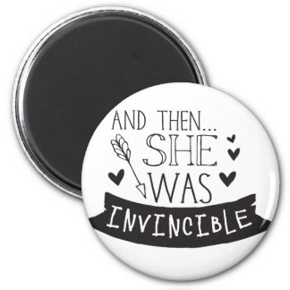 and then she was invincible magnet