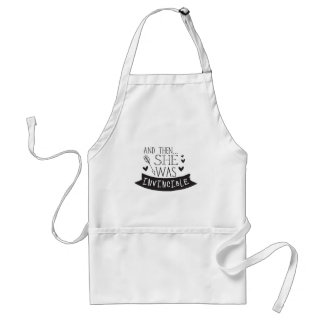 and then she was invincible standard apron