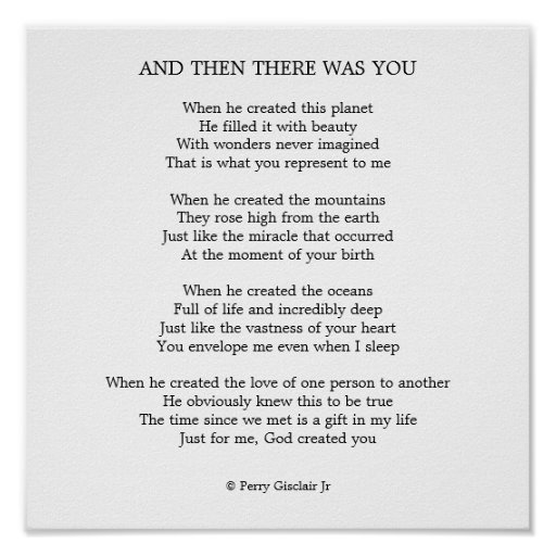 And Then There Was You Posters Zazzle