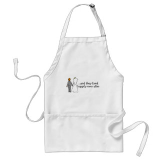 And They Lived Happily Ever After Bride and Groom Standard Apron