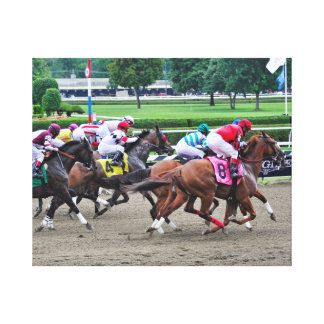 And They're off at Saratoga Canvas Print