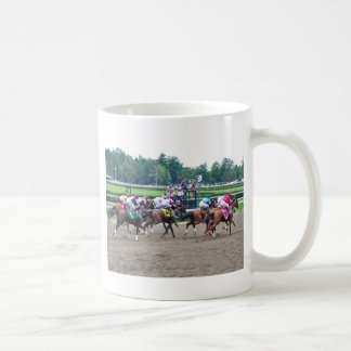 And They're off at Saratoga Coffee Mug