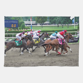 And They're off at Saratoga Kitchen Towel