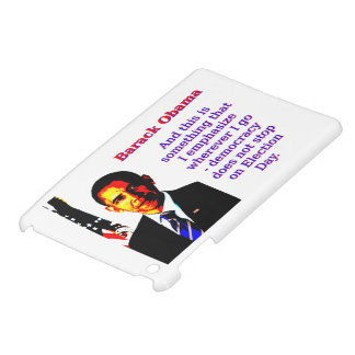 And This Is Something That I Emphasize - Barack Ob iPad Mini Cover