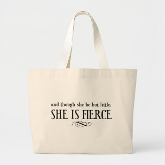And though she may be little, she is fierce jumbo tote bag