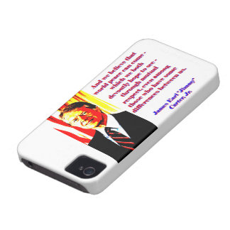 And We Believe That World Peace - Jimmy Carter iPhone 4 Covers