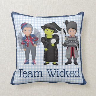 And Your Little Dog ToO!  Team Wicked Team Dorothy Throw Pillow