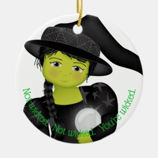 And Your Little Dog ToO!  Wicked With WWOO Ceramic Ornament