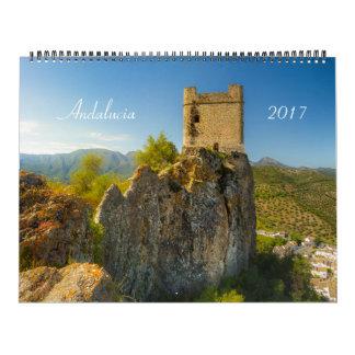 Andalusia, Spain Calendar 2017