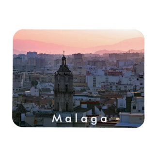 Andalusia. Sunset over Malaga. Magnet